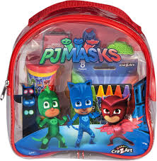 cra z art pj masks activity backpack with coloring book activity