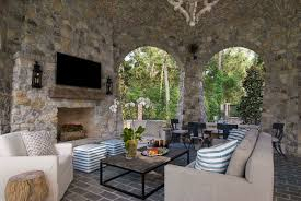 covered patio with fireplace covered patio with fireplace transitional deck patio thompson