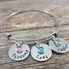grandparent jewelry gifts bracelet kids name bracelet gift for