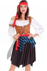 costumes for women white women caribbean pirate costume 037862 pirate