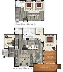 cottage floor plans with loft house plans with lofts open loft simple modern apartment floor 3d
