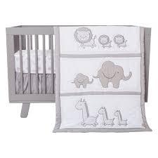 Gray And White Chevron Crib Bedding Safari Chevron 3 Crib Bedding Set Trend Lab
