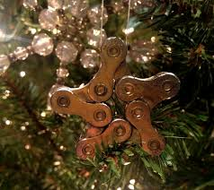how to make a star bicycle chain ornament