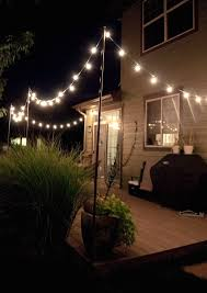 commercial grade landscape lighting with string lights outdoor