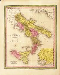 Map Of Southern Italy prints old u0026 rare naples italy