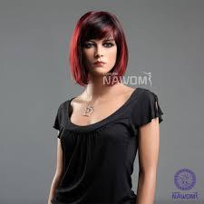 women s bob hairstyle amazon com new fashion girls women bob short straight red black
