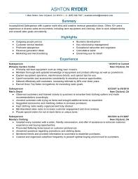 Resume For Someone With One Job by Unforgettable Salesperson Resume Examples To Stand Out