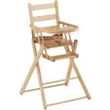 chaise haute bebe bois chaise haute pliante en bois massif vernis naturel