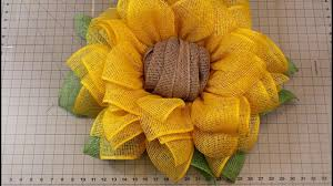 sunflower mesh wreath sunflower wreath tutorial julie s wreath boutique