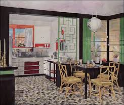 1935 asian style kitchen design by armstrong linoleum vintage