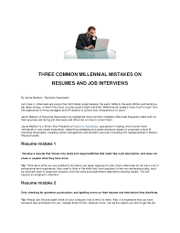 Punctuation In Resumes Three Common Millennial Mistakes On Resumes And Job Interviews