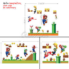 stickers wall decal nintendo super mario stick set kids bedroom stickers wall decal nintendo super mario stick set