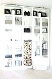 Ikea White Bookcase With Glass Doors White Bookcase With Doors 8libre