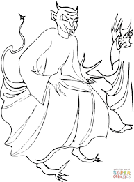 two demons coloring page free printable coloring pages