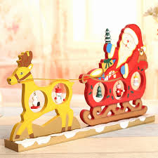 HOT XMAS Gift Table XMAS Decoration Creative Wooden Deer Pull