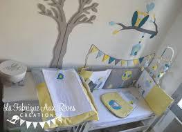 arbre déco chambre bébé chambre bleu gris jaune et decoration deco garcon blanc bebe