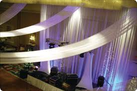 Chiffon Ceiling Draping Walls Harmed Process Decorating Hall Wedding Gowns