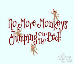 wall decal design no more monkeys jumping on the bed wall decal