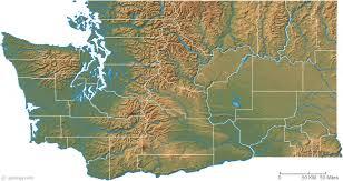 map of washington washington physical map and washington topographic map