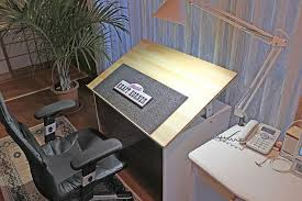 Build Drafting Table Cheap Drafting Table Made From Plywood 4 Steps With Pictures