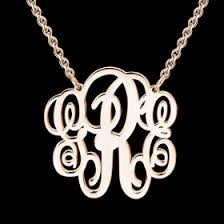 personalized monogram necklace personalized monogram necklace gold plated new