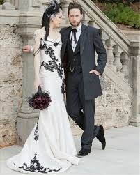 black and white wedding dresses glam black and white wedding costume looks weddceremony