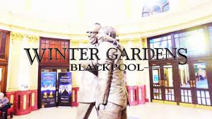 blackpool winter gardens morecambe and wise tribute statue 2017