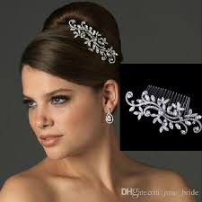 bridal hair combs fancy wedding bridal hair comb jewelry flower tiaras