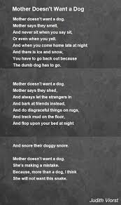 Mud Rugs For Dogs Mother Doesn U0027t Want A Dog Poem By Judith Viorst Poem Hunter