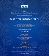 nyabj 4th annual holiday party tickets tue dec 13 2016 at 6 30
