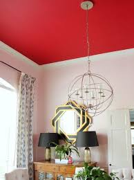 paint your ceiling an unexpected color like red paint color show