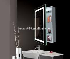 lux aqua bathroom cabinet illuminated mirror cainet with shaver