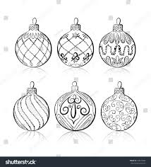 vector sketch three christmas balls on stock vector 239372884