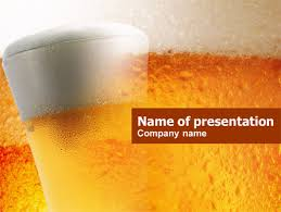 beer tumbler powerpoint template backgrounds 00750