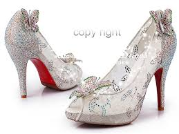 Wedding Shoes Peep Toe Buy Cinderella Wedding Shoes Lace Shoes Peep Toe Crystals
