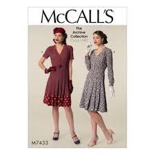 1940s dresses mccalls retro sewing pattern m7433 misses 1940s dresses belt 6 8