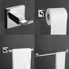 Bathroom Collections Sets Modern Brass Bath Collection Set Bathroom Accessory Chrome Sets 4