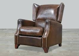 recliners impressive vintage leather recliner for house furniture