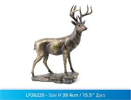 stunning cold cast bronze large stag figurine deer ornament 47cm