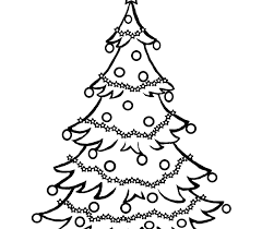 christmas tree coloring pages and pictures to colour u0026 print