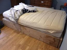 Bed Frame Post by Strong And Tough Platform Bed Diy 7 Steps With Pictures