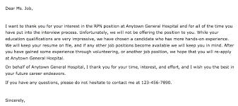 Rejection Letter Recruitment Agency exle rejection letter employer granitestateartsmarket