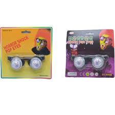 1pcs new halloween scary glasses horror plastic joke shock pop
