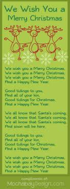 print we wish you a merry song lyrics bookmark