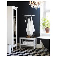 Navy Blue And White Bathroom by Hemnes Bench White Ikea