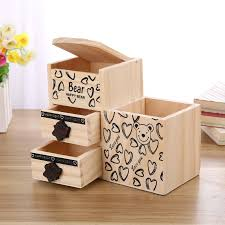 Desk Tidy Set Pen Pet Picture More Detailed Picture About Bear Wooden Pen
