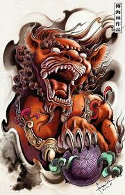 foo dog lion foo dog lion guardian tattoo design foo dog