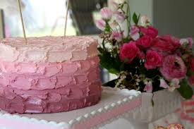bubble and sweet easy pink ombre butter cream frosting cake