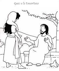 preschool coloring pages woman at the well 1000 images about bible jesus woman at well on pinterest