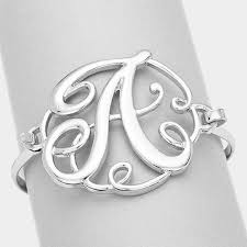 monogram bracelet silver monogram bangle bracelet silver faith nate boutique